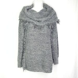 Knox rose cowl neck sweater, size Medium, knitted